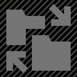 arrows, folder, swap icon
