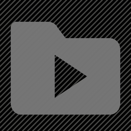 folder, play, video icon