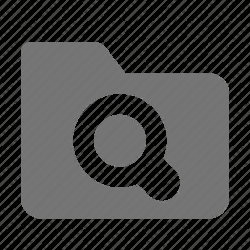 folder, search, view icon