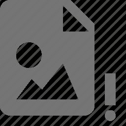 alert, error, file, images icon