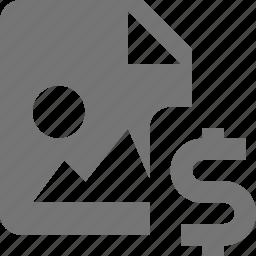 dollar, file, images, money icon