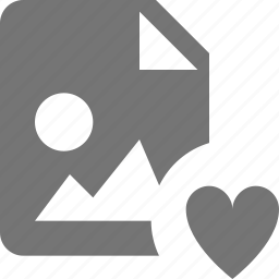 favorite, file, heart, images icon