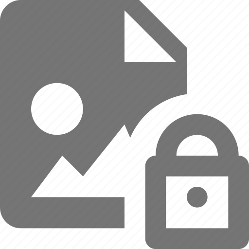 file, images, lock icon