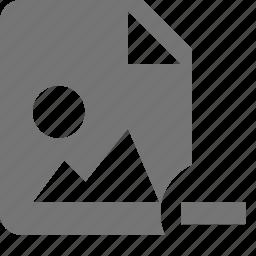 file, images, minimize, minus icon