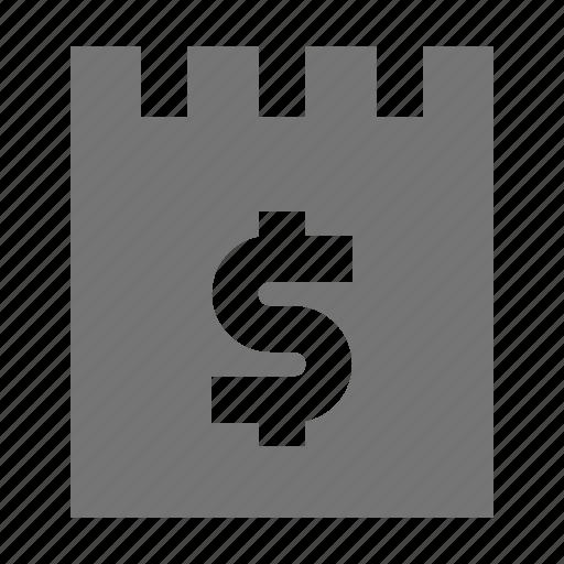dollar, money, note icon