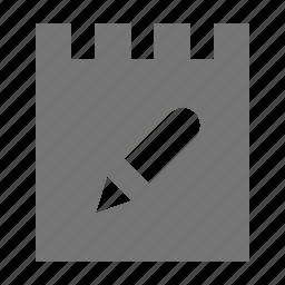 edit, note, pen, pencil icon