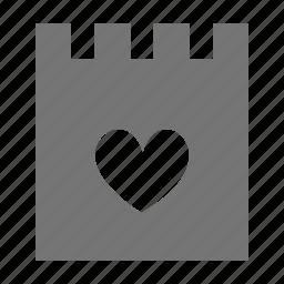 favorite, heart, like, note icon