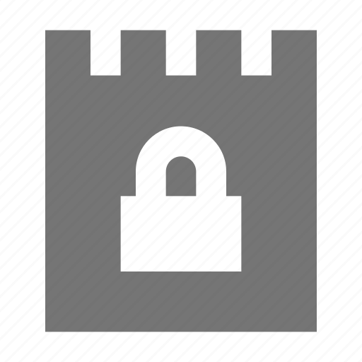 lock, note, privacy, security icon