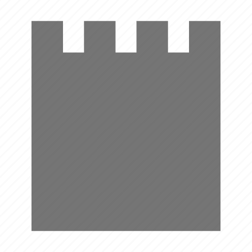 blank, new, note icon