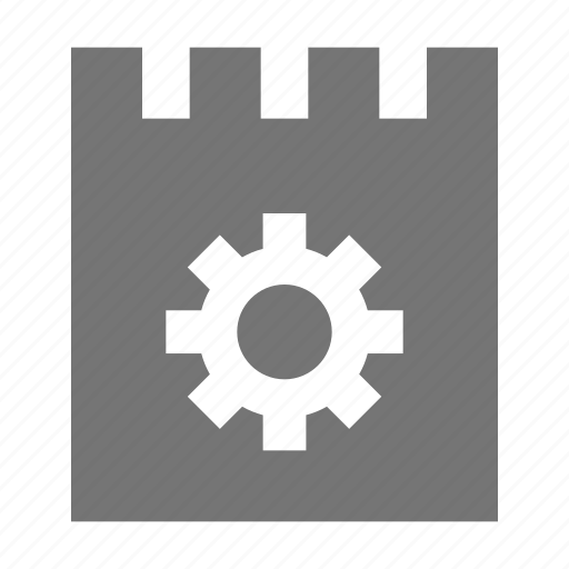 configuration, gear, note, options, settings icon
