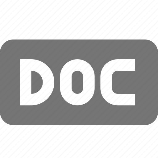doc, extension, format icon