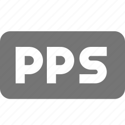 extension, format, pps icon