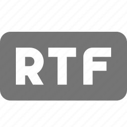 extension, format, rtf icon