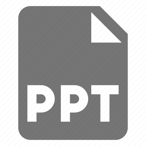 extension, file, format, ppt icon