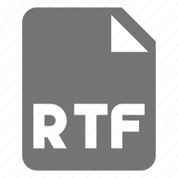 extension, file, format, rtf icon