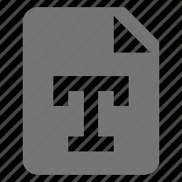 file, text icon
