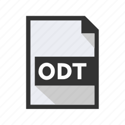 document, file, format, odt, open icon