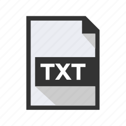 document, file, text, txt icon