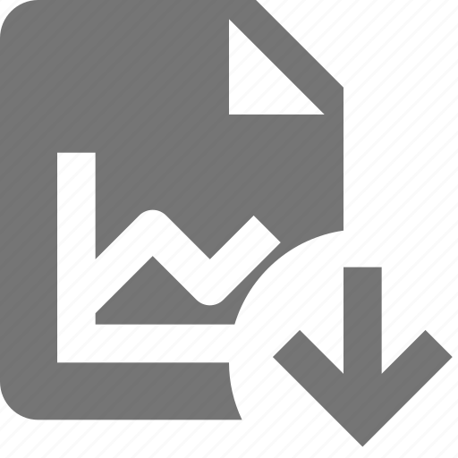 arrow, down, download, file, graph icon