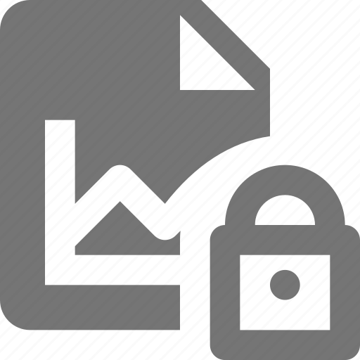 file, graph, lock, security icon