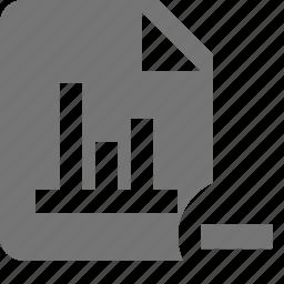 file, graph, minimize, minus icon
