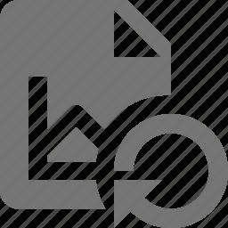 file, graph, refresh, reload, sync icon