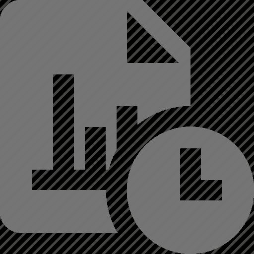 clock, file, graph, history icon