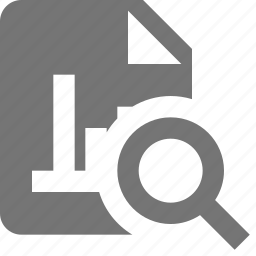 file, graph, search, view icon