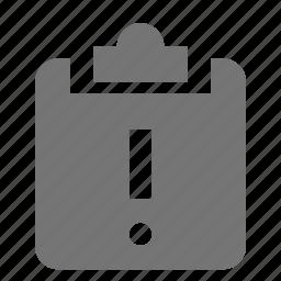 alert, clipboard, error, tasks icon