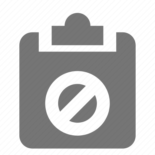 block, clipboard, stop, tasks icon