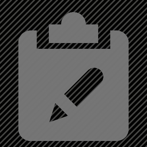 clipboard, edit, tasks icon