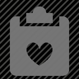 clipboard, favorite, heart, tasks icon