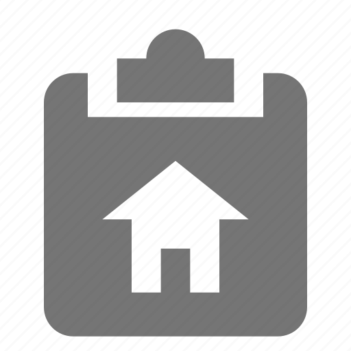 clipboard, home, house, tasks icon