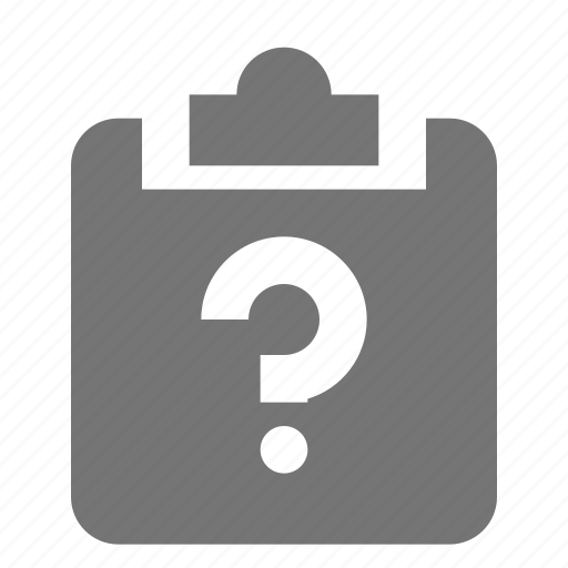 clipboard, help, question, tasks icon