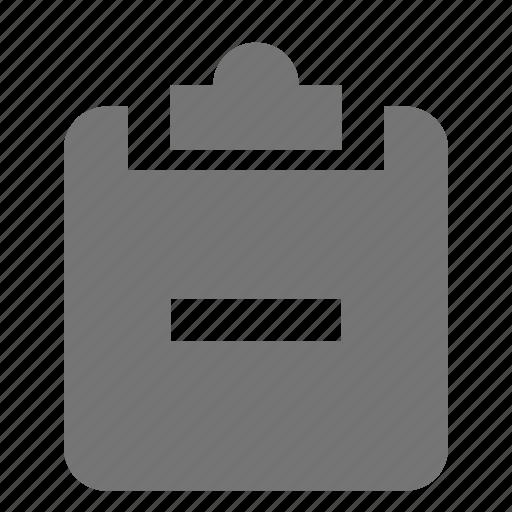 clipboard, minimize, minus, tasks icon