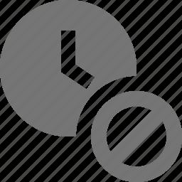 block, clock, stop, time icon