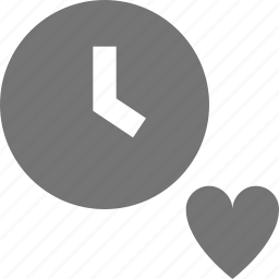 clock, favorite, heart, history, time icon