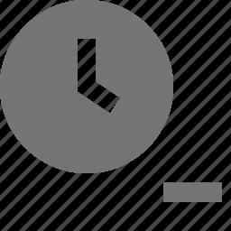 clock, history, minimize, minus, time icon