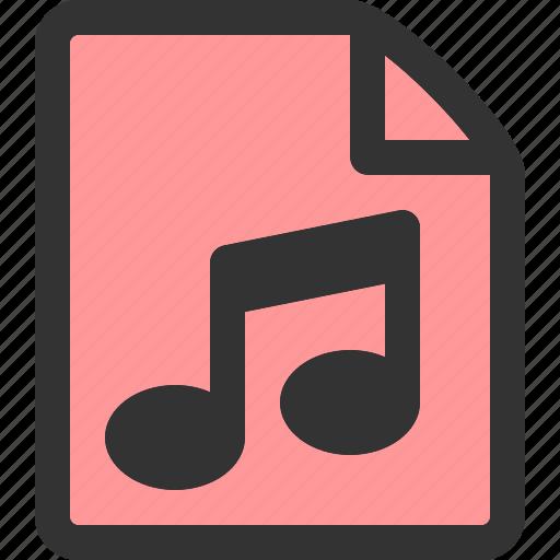 audio, file, folder, media, music, sound, ui icon