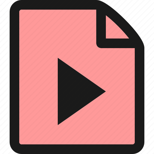 file, film, media, movie, music, play, video icon
