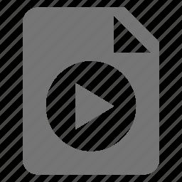 circle, file, movie, play, video icon