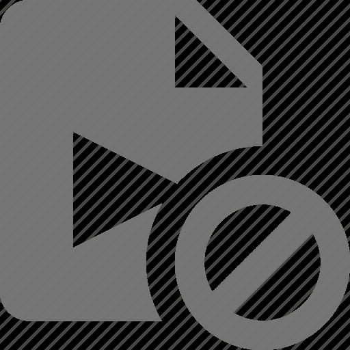 block, file, movie, stop, video icon