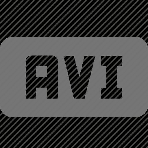 avi, extension, movie, video icon