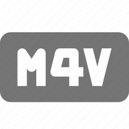 extension, format, m4v, movie, video icon