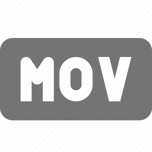extension, mov, movie, video icon