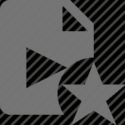 favorite, file, movie, star, video icon