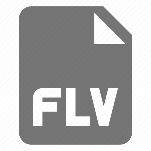 extension, file, flash, flv, movie, video icon