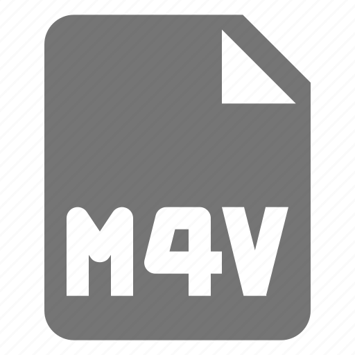 extension, file, format, m4v, movie, video icon