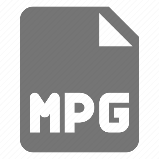 extension, file, movie, mpg, video icon