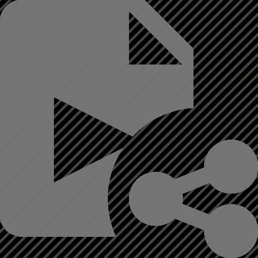 file, movie, share, video icon